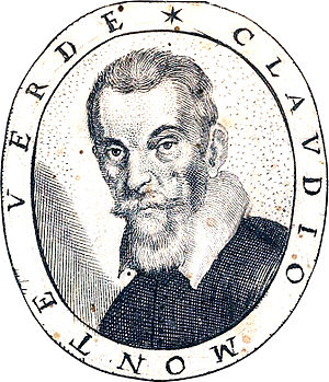 Claudio Monteverdi - Portrait of Claudio Monteverdi, from the title page of Fiori poetici, a 1644 book of commemorative poems for his funeral