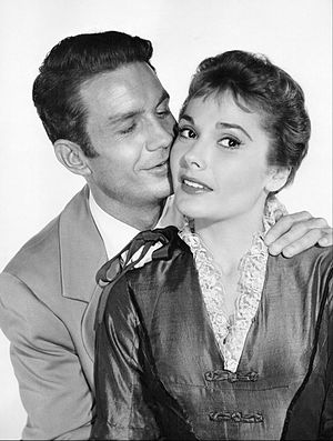 "Felicia Farr - Cliff Robertson and Farr in the Playhouse 90 presentation of ""Natchez"", 1958"