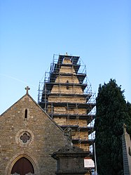 The church of Saint-Martin during its restoration in 2004