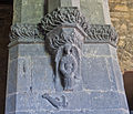 Clonfert Cathedral Chancel Arch Southern Pier Angel and Dragon 2009 09 17.jpg