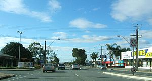 Clovelly Park, South Australia - Street in Clovelly Park, looking west from South Road