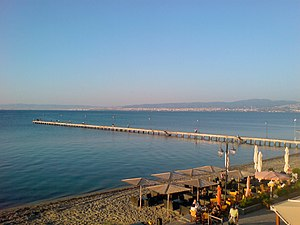 Thermaic Gulf - View of Thermaic Gulf from Peraia, Thessaloniki.