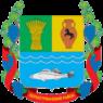 Coat of Arms of Manhush raion.png