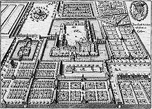 gravure: le Palais de Cöthen