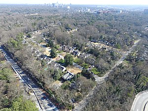 Collier Hills - Collier Hills from Northside Drive / Echota intersection looking towards Buckhead