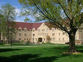 Colorado Women's College - Porter Hall (now President's Hall) at the former Colorado Women's College campus