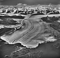Columbia Glacier, Valley Glacier, Calving Terminus and Calving Distributaries, Kadin Lake, September 3, 1966 (GLACIERS 972).jpg