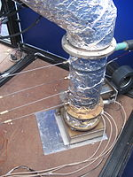 Combustion unit used to treat dried solid waste and generate electricity used to power the system. (13359622583).jpg