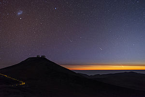 C/2012 F6 (Lemmon) - Image: Comets and Shooting Stars Dance Over Paranal