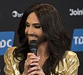 Conchita Wurst, ESC2014 Meet & Greet 14 (crop).jpg