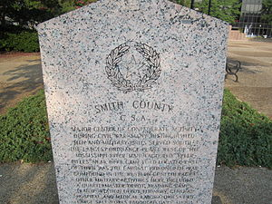 Smith County, Texas - Confederate States of America memorial in Tyler plaza