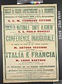 Conference Inaugurale - Italia e Francia (Opening Lecture - Italy and France) Art.IWMPST6783.jpg
