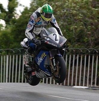 Conor Cummins - Cummins at Ballaugh Bridge in 2008