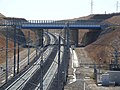 Contournement Nimes-Montpellier track with substation by A9 bridge 6077.JPG