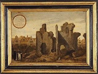 Ruïne van het in 1563 verbrande Dominicaner- of Predikherenklooster aan de Hoogstraat