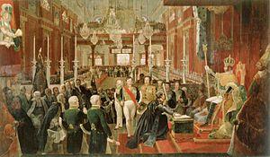 Rio de Janeiro - Coronation ceremony of Emperor Pedro I of Brazil in Rio de Janeiro's old Imperial See, 1st December 1822