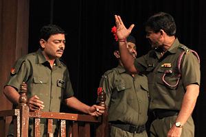 Swadesh Deepak - Court Martial Play at Ravindra Bhavan Bhopal, written by Swadesh Deepak