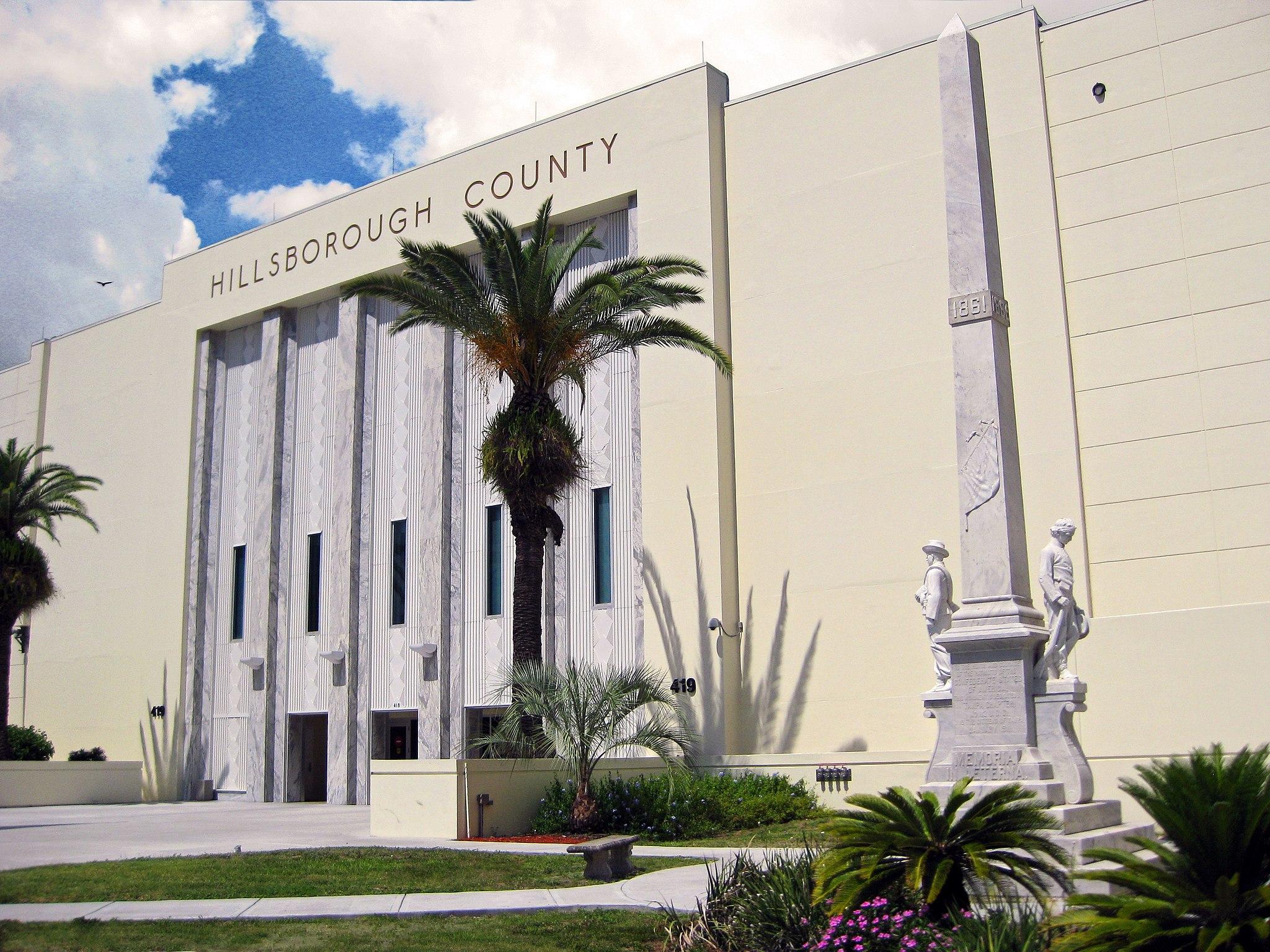 Courthouse & Confederate Memorial-Hillsborough County, Florida