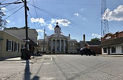 Courthouse square in Kenansville, North Carolina