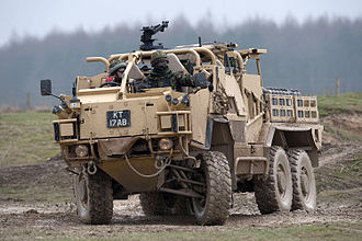 1st The Queen's Dragoon Guards - Members of 1st The Queen's Dragoon Guards under training to operate the Coyote vehicle
