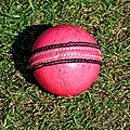 Cricket ball at Church Times Cricket Cup final 2019.jpg
