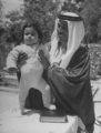 Crown Prince Talal of Jordan with his son Hassan, 1 May 1948.png