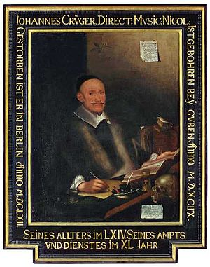 Johann Crüger - Retrospective portrait dated 1663