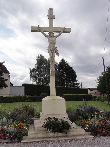 Cugny (Aisne) calvaire (croix de chemin)