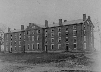 """Cushing Hall - """"New College"""" in 1895"""