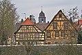 Dürrmenz Fachwerkhäuser - Kirche - panoramio.jpg