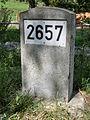 D-BW-BC-Ertingen-Binzwangen - Kilometerstein 2657 an der Donau.JPG
