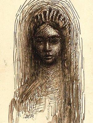 Symbolist movement in Romania - Chimera, ink drawing by Dimitrie Paciurea