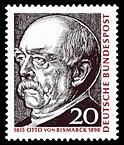 Почтовая марка Немецкой федеральной почты (1965) по случаю 150-летия со дня рождения Бисмарка.