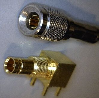 CoaXPress - Image: DIN 1o 0 2o 3 75Ω male and female connector
