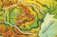 Map of Dacia in the last years of Burebista's reign