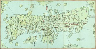 Obama Domain - Map of Japan, 1789 -- the Han system affected cartography