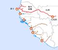 Dakar-Niger railway map-zh-tw.png