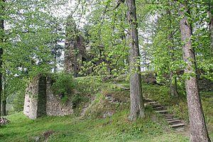 Dalečín - Image: Dalečín hrad 1