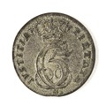 Dansk åttaskilling, 1695 - Skoklosters slott - 109438.tif