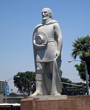 History of Riverside, California - Sherry Peticolas's statue of Juan Bautista de Anza in Riverside, California