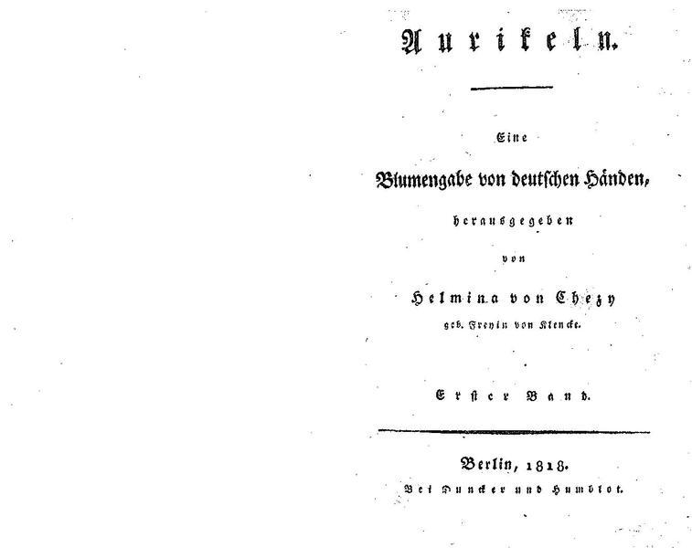 File:De Aurikeln, eine Blumengabe von deutschen Händen (Chezy).pdf
