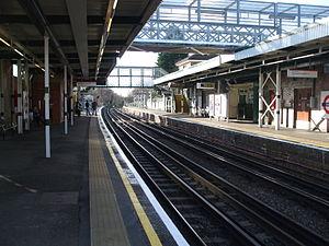Debden tube station - Image: Debden stn west