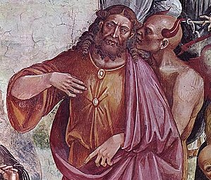 Antichrist - Luca Signorelli's 1501 depiction of the face of antichrist, from the Orvieto Cathedral