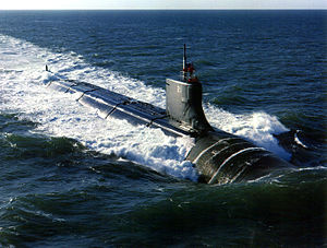 The USS Seawolf (SSN-21) underway