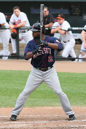 Denard Span - Span batting for the Minnesota Twins in 2008