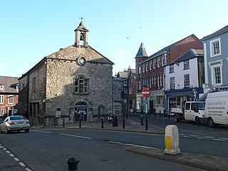 Denbigh Town in Denbighshire, Wales