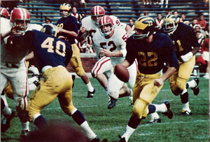 Dennis Brown (quarterback) - Brown (No. 22) from 1968 Michiganensian