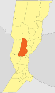 Location of Las Colonias Department within Santa Fe Province