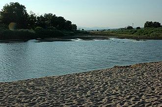 Tordera (river) - Mouth of the Tordera between Blanes and Malgrat de Mar