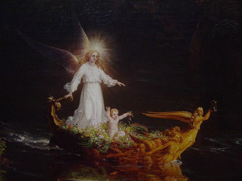 imágenes de ángeles de Dios protegiendo a niño